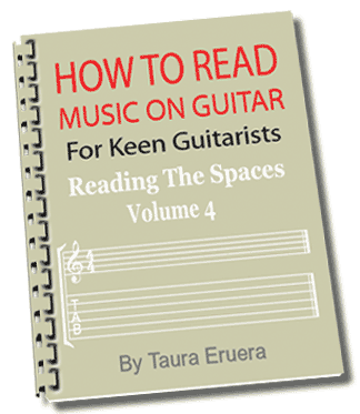 How To Read Music On Guitar Reading The Spaces Vol 4