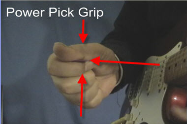 How to hold the plectrum