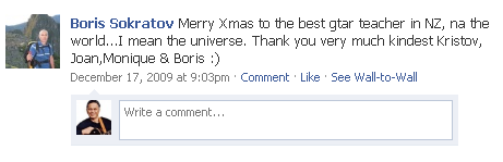 Thanks from Boris